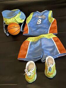 American Girl Basketball outfit with ball and bag.