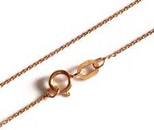 "100% GENUINE 9ct 9k 375 Rose Gold 16"" Inches 40cm Tri Belcher Chain Necklace"