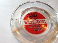 New ListingTobacciana Advertising Glass Ashtray Winston Cigarette No Bull nothin' but taste