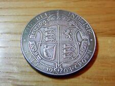 1903 1/2 Demi-couronne RARE COIN 2/6 King Edward VII émission commémorative ESC 748