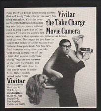 1969 VIVITAR 84P Movie Camera - NUDE NAKED WOMAN on man - VINTAGE ADVERTISEMENT