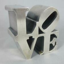 "Vintage 1970's ROBERT INDIANA Heavy Aluminum 2.5"" LOVE PAPERWEIGHT"