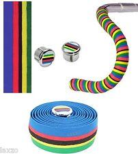 Cinelli Cork Multi Coloured Road Handlebar Tape World Champion Rainbow Stripes