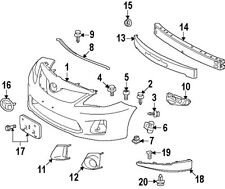 TOYOTA 5211402060 GENUINE OEM LICENSE BRACKET #17 ON DIAGRAM