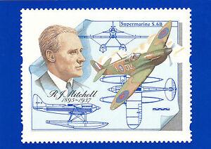 (04372) GB PHQ Postcard Mint D10 RJ Mitchell Spitfire 1996