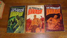 DOC SAVAGE BANTAM PAPERBACKS: #7, 10 & 22, 1st PRINTS