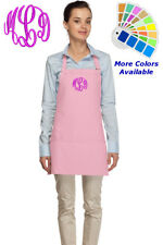 Monogrammed Apron for Mom Dad Kitchen Baker Cook Gift Personalized