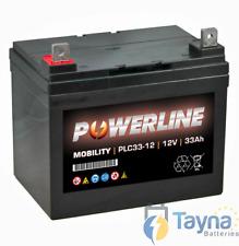 Powerline 12V 33AH scootmobiel ACCU AGM / GEL 33AH