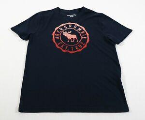 Abercrombie Kids Blue Moose Logo T-Shirt Sz 11/12