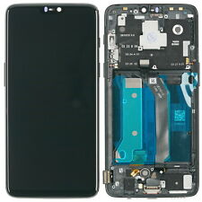 OnePlus 6 display module lcd touchscreen frame digitizer glass black