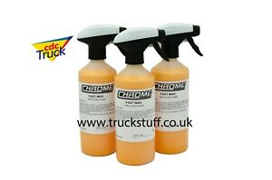 Chrome(NW) 'FAST WAX' Polish and Wax spray for TRUCKS  3 for £16 FREE Postage