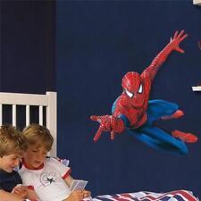 HUGE Spider-Man Smashed wall Crack Kids Boy Girls Bedroom Vinyl Decal Sticker