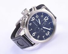 50mm Parnis Russian Military Men's Chronograph Quartz Watch Stainless Steel Case
