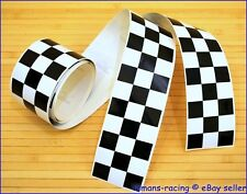 CAFE RACER Chequered Stripes Stickers Decals Tape 1260x60mm 2 pieces