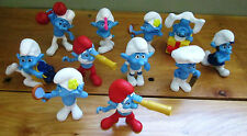 2011 McDonalds Happy Meal -  The Smurfs Lot of 11 - Complete your set