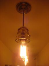 INDUSTRIAL MODERN LIGHT FIXTURE VINTAGE GLASS PENDANT
