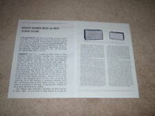 Acoustic Research AR-2aX,4X Speaker Review,2 pgs,1966