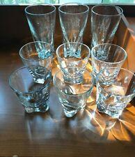 Group of Triangular Based Heavy Bar Glasses - 6 Old-Fashioneds & 3 Highballs
