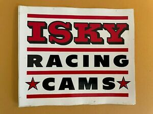 Isky Racing Cams Used Decal : See description