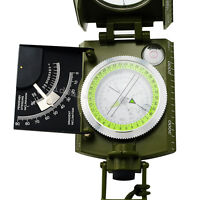 Professional Military Army Metal Sighting Compass w/ Inclinometer Army Green