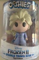 "Ooshies Frozen II Sparkle Travel Elsa Vinyl Edition - 4"" Figure"