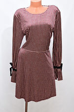 Target Houndstooth Xhilaration Velour Fit Flare Bell Sleeve Dress Sz XL NEW