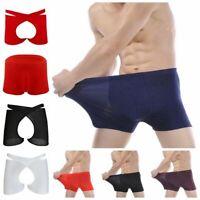 Plus Size Men Bamboo Fiber Stretchy Boxer Briefs Shorts Swim Trunks Underwear UK