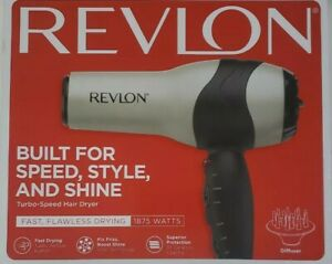 Revlon 1875w Volumizing Turbo Hair Dryer NEW open box, silver