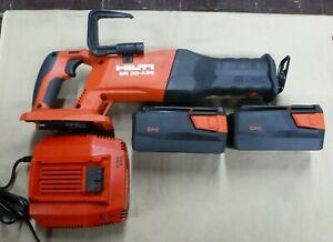 Hilti SR 30-A36 36V Cordless Reciprocating Saw W/ 2 Batterys & Charger *MINT*