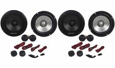 "(2) Pairs Rockville RVL6KIT 6.5"" 1600 Watt Component Car Speakers Aluminum Cones"
