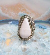Anello alpaca argento agata bianco pietre Etnico Inca Maya INDIANO STILE 43