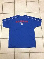 Kansas Jayhawks NCAA Basketball T Shirt Blue Size XL