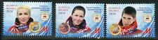 2014 Belarus. Medal winners of the XXII Olympic Winter Games in Sochi. MNH. Set