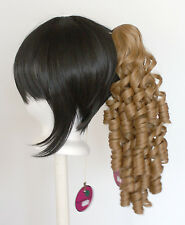 18'' Ringlet Curly Pony Tail Clip Hazelnut Brown Cosplay Lolita Wig Clip OnlyNEW