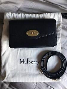 New Mulberry Darley black belt bag adjustable strap for shoulder or clutch