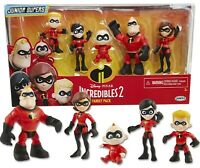 The Incredibles 2 Family 5 Pack Junior Supers Action Figures 3 inch toys