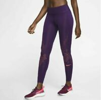 Nike Leggings Athletic Running Fast Reflective Purple Sz XS NEW NWT 920