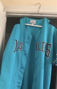 Vintage Starter Florida Marlins Jersey Men's MLB Baseball Button Green Large