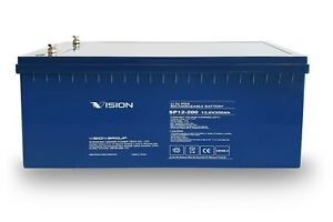 Vision 12V 200Ah LiFePO4 Deep Cycle Battery High Grade Lithium Prismatic Cells