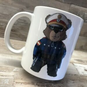 Patchzone ÖBär V8 Kaffeehäferl Polizei Kaffeetasse Trinkbecher