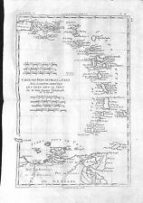 Antique maps, Carte des isles Antilles …