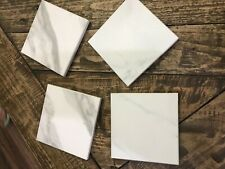New listing Set 4 Cultured Stone white Marble Square Bar Drink Beverage Coasters
