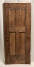 Antique Solid Oak Wood Interior Door Small Child-Size Cubby Nook 3 Panel 50x22x2