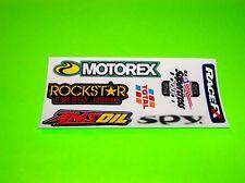 MOTOREX AMSOIL RACEFX ROCKSTAR ENERGY SPY MOTOCROSS SUPERCROSS STICKERS DECALS