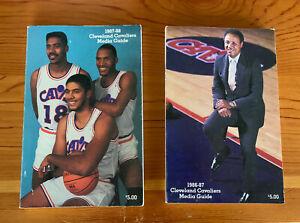 2 Cleveland Cavaliers Media Guides 1986/87, 87/88 Daugherty Harper