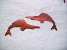 10 Pcs. Raw Copper Blanks, Stampings - SWORDFISH SHAPE