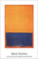Mini Poster Orange and Brown Mark Rothko 40 x 50 cm