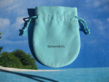 Tiffany & Co  Suede Drawstring Pouch Robin Egg Jewelry Soft New LARGE