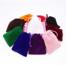 100pcs Small/Large Gift Bag Velvet Cloth Jewelry Pouch Drawstring Wedding Favors