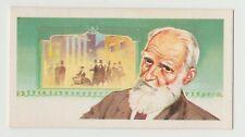 Original 1960s UK Trade Card featuring dramatist George Bernard Shaw